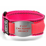 If Lost Alert ID Pink Sport Strap Fits 4 1/2 - 5 1/2 In