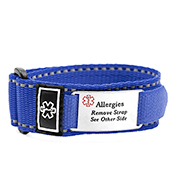Adjustable Blue Sports Strap Allergy Bracelet