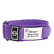 Adjustable Purple Sports ID Allergy Bracelet