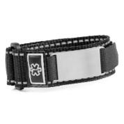 Adult Black Sports Strap Medical ID Bracelets