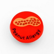 Peanut Allergy Button for Kids Rubber Medical Bracelet
