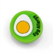 Egg Allergy Button for Kids Rubber Medical Bracelet
