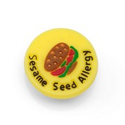 Sesame Allergy Button for Kids Rubber Medical Bracelet