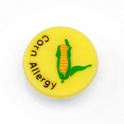 Corn Allergy Button for Kids Rubber Medical Bracelet