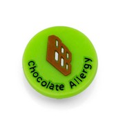 Chocolate Allergy Button for Kids Rubber Medical Bracelet