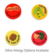 Allergy Buttons and More for Kids Rubber Medical Bracelet