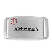Alzheimers Medical Alert Bracelet Tag