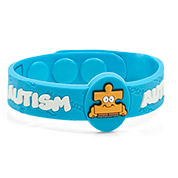 Light Blue Autism Bracelet for Kids 4 1/2 - 6 Inch