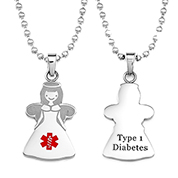 Angel Type One Diabetes Necklace
