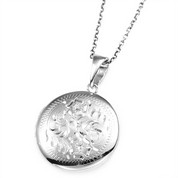 Ivy Ornate Round Sterling Silver Locket