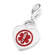 ID Alert Sterling Silver Medical Charm
