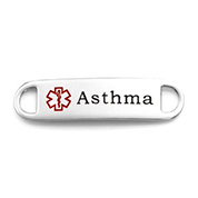 Asthma Alert Medical ID Bracelet Tag