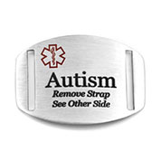 Autism Alert Medical Tag for Bracelets