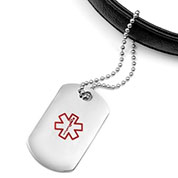 Stainless Medical ID Luggage Tag