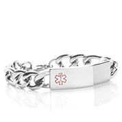 Bray Figaro Medical Alert Bracelet for Men