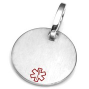 LG Medical Brushed Steel ID Tag for Purses, Pets, & More