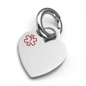 SM Medical Polished Heart ID Tag for Purses, Pets, & More
