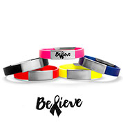 Believe Silicone Medical Alert Bracelets