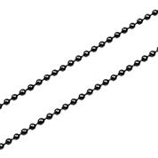 Black Plated Stainless Bead Chain