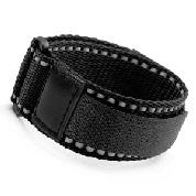 Black Sport Strap Adjustable 5 1/2 - 8 Inches