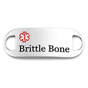 Brittle Bone Alert ID Tag for Bracelets