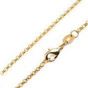 1.5mm 14K Gold Plated Rolo Neck Chains