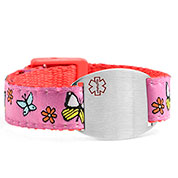 Butterfly Sport Band Medical Bracelets for Kids