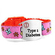 Butterfly Type 1 Diabetes Bracelet