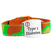 Camouflage Type One Diabetes Bracelet