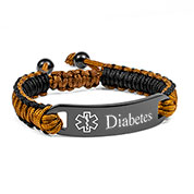 Adjustable Chocolate Macrame Diabetic Bracelet