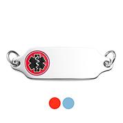 Color Choice Engravable Steel Alert ID Tags