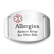 Steel Medical Tag for Allergy Bracelets