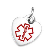 Half Inch Stainless Steel Heart Styel Medical Charm