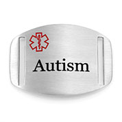 Autism Alert Medical ID Stainless Tag