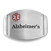 Medical ID Tag for Strap Alzheimers Bracelets