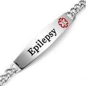 Slender Medical ID Epilepsy Bracelet