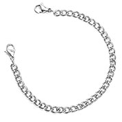 316L Steel Chain with 2 Lobster Clasp Ends 9 In (No Tag)