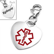 Epilepsy Stainless Steel Medical Alert Charm