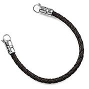 Make Your Own Black Braided Leather Bracelet