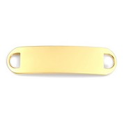 Gold Plated ID Tag for Custom Bracelets