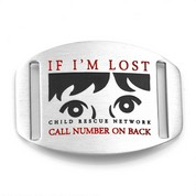 If Lost - Child Rescue Network ID Tag for Straps