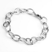 Stainless Steel Bracelet for Engravable Charms 7 inch
