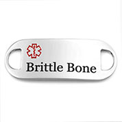 Brittle Bone Alert ID Tag for Bracelets