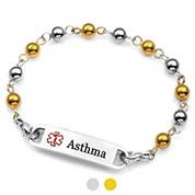 Gold & Silver Beaded Asthma Bracelets for Women