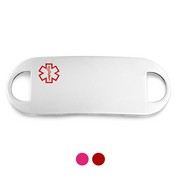Surgical Grade Steel Red and Pink Medical ID Tags