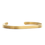 Engraved Gold Dainty Cuff Bracelet Medium