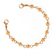 Rose Gold Beaded Medical Alert Bracelet for Medical Tag