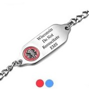 Wisconsin DNR Medical ID Stainless Bracelet 7 - 9 In