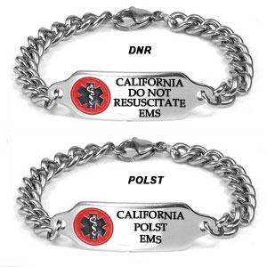 California DNR / POLST Medallion Bracelet 7 - 9 In