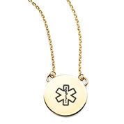 Lena Gold Medical ID Necklace